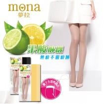 【夢拉mona 】果酸香全透膚顯瘦絲襪-24雙入