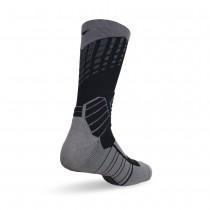 買一送一【老船長】(9817)全方位足弓壓力運動襪籃球襪-1雙入黑色(24-26cm)