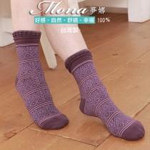 【夢拉】(14-C)浪漫巴黎風圖騰紋短襪-3雙入