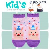 【kid】(3003)台灣製棉質義大利台無縫針織止滑童襪-1雙入15-17CM紫色
