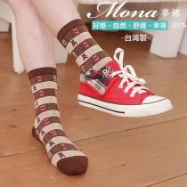 【夢拉】(B207)可愛小熊少女短襪-3雙入