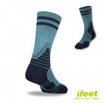 買一送一【老船長】(9816)全方位足弓壓力運動襪籃球襪-1雙入藍色(24-26cm)
