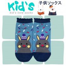 【kid】(3003)台灣製棉質義大利台無縫針織止滑童襪-1雙入15-17CM水藍