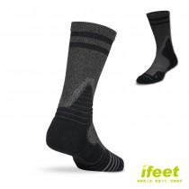 買一送一【老船長】(9816)全方位足弓壓力運動襪籃球襪-1雙入黑色(24-26cm)