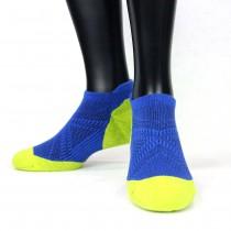 【老船長】(9822)EOT科技不會臭的萊卡抗菌超強足弓編織氣墊襪-1雙入-螢光綠色25-27CM