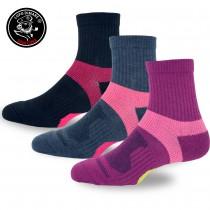 【老船長】(9826)戶外輕量釋壓高級羊毛襪-5雙入(女款22-24cm)