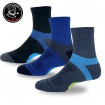 【老船長】(9826)戶外輕量釋壓高級羊毛襪-6雙入(男款25-27cm)