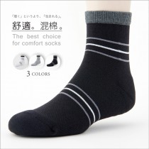 【老船長】(B3-144)三橫線毛巾氣墊加大運動襪