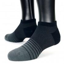 【老船長】(8462)EOT科技不會臭的萊卡抗菌足弓氣墊船型襪-1雙入-黑色25-27CM