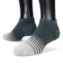 【老船長】(8462)EOT科技不會臭的萊卡抗菌足弓氣墊船型襪-1雙入-灰色25-27CM