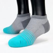 【老船長】(8462)EOT科技不會臭的萊卡抗菌足弓氣墊船型襪-1雙入-水藍色25-27CM