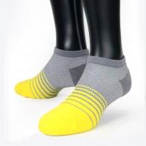【老船長】(8462)EOT科技不會臭的萊卡抗菌足弓氣墊船型襪-1雙入-黃色22-24CM