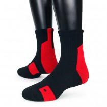【IFEET】EOT科技不會臭的中統運動襪(K132-1)-1雙入-紅色