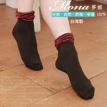 【夢拉】(B204)可愛蝴蝶結造型短襪-3雙入