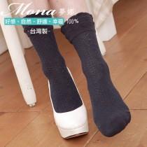 【夢拉】(B203)浪漫蝴蝶結造型短襪-3雙入