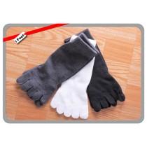 【老船長】(500)細針純棉抗菌除臭五趾襪-6雙入